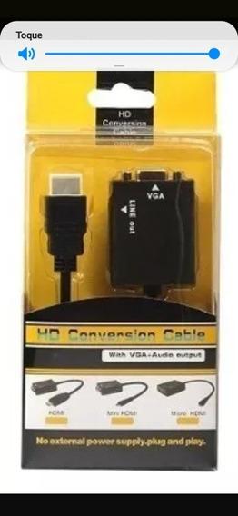 Conversor Vga Para Hdmi Com Audio