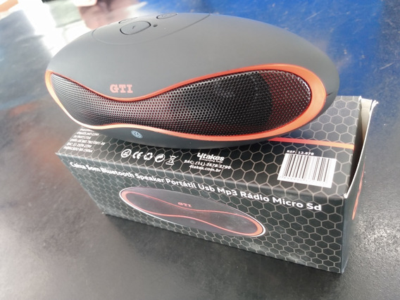 Caixa Som Gti Bluetooth Speaker Portatil Usb Micro Sd
