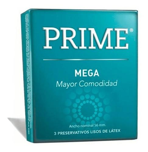 Imagen 1 de 4 de Preservativos Prime Mega Latex  3 Un