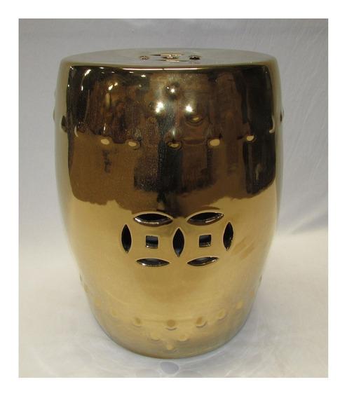 Garden Banqueta Dourado De Cerâmica Com Detalhes - Fcm056-d