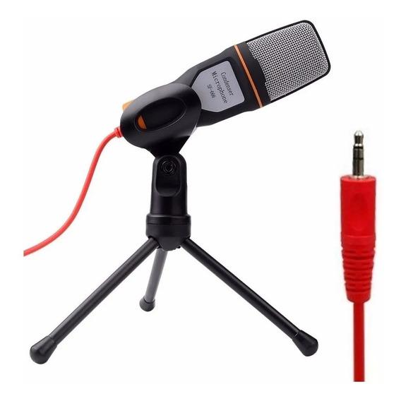 Microfone Sf 666-888 Condensador Preto C/pedestal Não Bm800