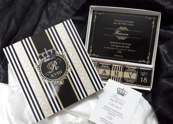 Invitaciones 18 Años Original Cajas Chocolates
