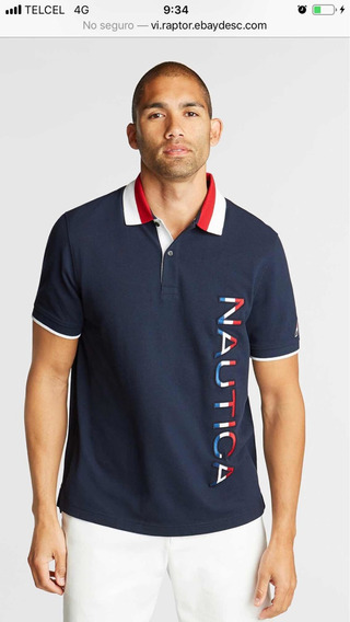 Polo Nautica Talla Mediana Bordada