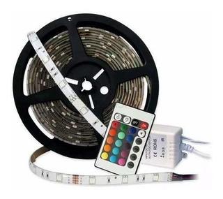 Tira Led 3528 2835 5 M Multicolor Combo Fuente Control.