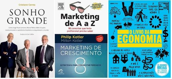 Sonho Grande + Marketing A A Z + Livro Economia Frete Grátis