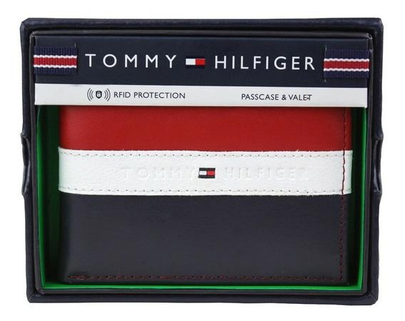 Carteira De Couro Tommy Hilfiger Em 3 Cores 100% Original Us
