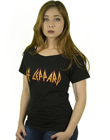 Camiseta Rock Def Leppard Feminina