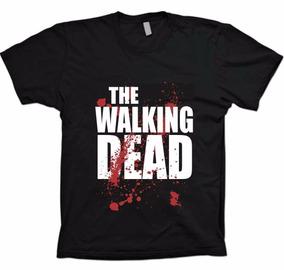 Camiseta Preta - The Walking Dead - Twd - 100% Algodão!!