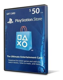 Cartão Psn $ 50 Dólares Usa Ps3 Ps4 Psn Card 50 Americana