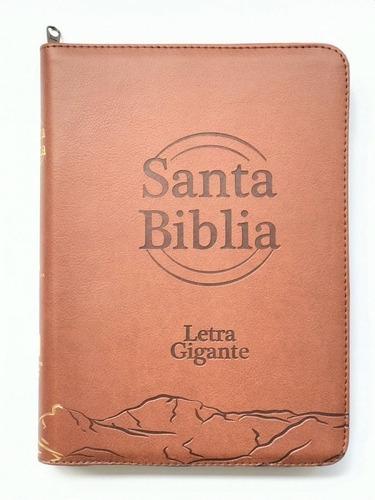 Biblia Reina Valera 1960 Letra Gigante Café Con Cierre