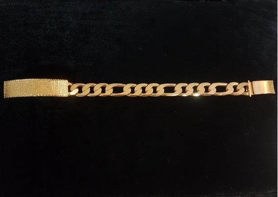 Esclava Chapa 14k Hombre 24cm