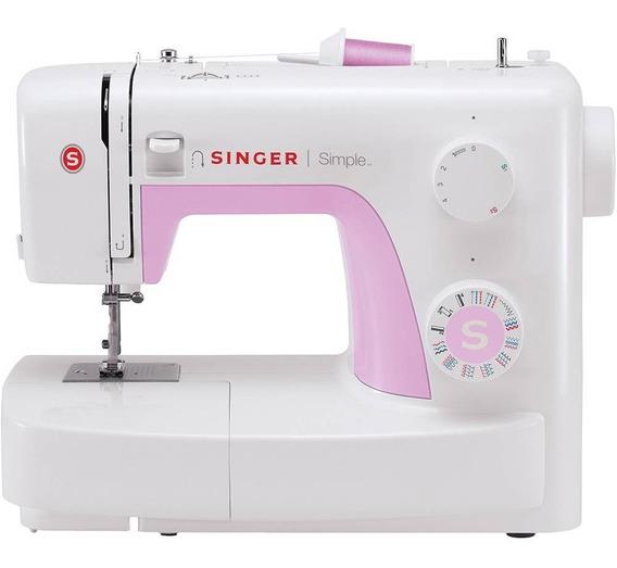 Máquina De Costura Singer Simple 3223 Branco/rosa 110v