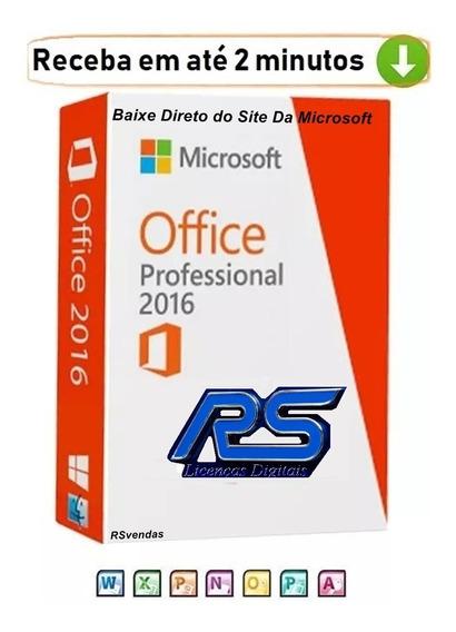 Microsoft Pacote Office 2016 Pro Plus Licença Original