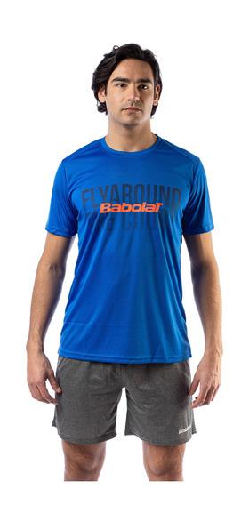 Remera Babolat Hombre T Shirt Team Padel Azul