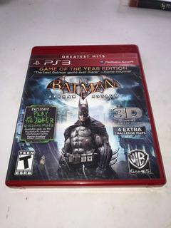 Batman Arkham Asylum Ps3!!! Gh Goty