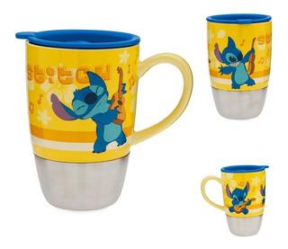 Stitch Taza Disney Store Taza De Viaje Stitch Músico