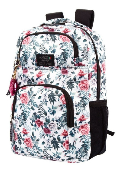 Mochila Super Maxi Canvas Estampada Quaglia