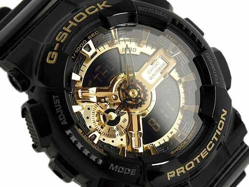 Relógio Casio Masculino G-shock Preto Dourado + Caixa Metal