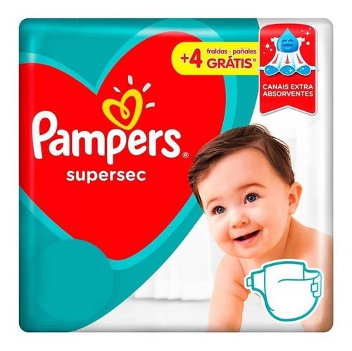 Imagen 1 de 3 de Pañales Pampers Super Sec Xxg 64-bebés Y Niños
