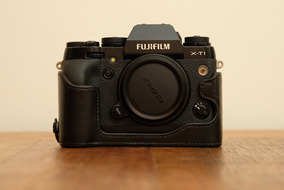 Corpo Fujifilm Xt-1 Com Capa De Couro