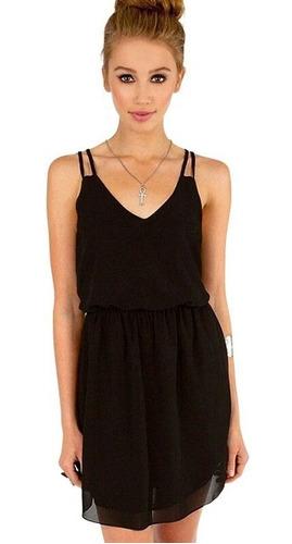 Imagen 1 de 4 de Vestido De Fiesta Negro Elegante Fashion Mujer Moda Ropa
