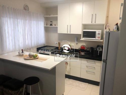 Cobertura Com 2 Dormitórios À Venda, 82 M² Por R$ 370.000,00 - Vila Valparaíso - Santo André/sp - Co11925