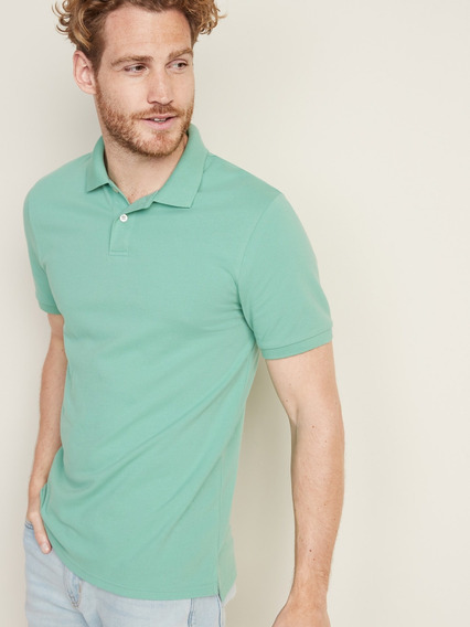 Playera Hombre Tipo Polo Manga Corta Lisa 392645 Old Navy
