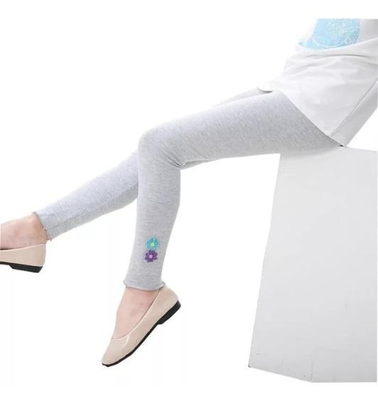 Leggins Mallón Pantalón Para Niñas Algodón Con Aplicaciones