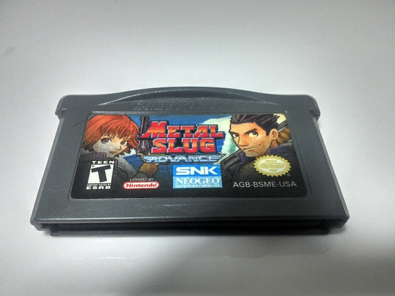 Ultra Raro Metal Slug Advance Game Boy Original Snk Gba Sp