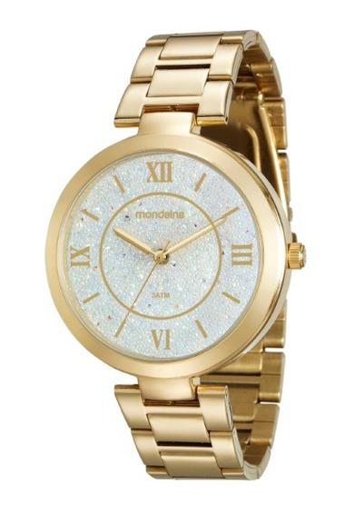 Relógio Mondaine Feminino Dourado 34686