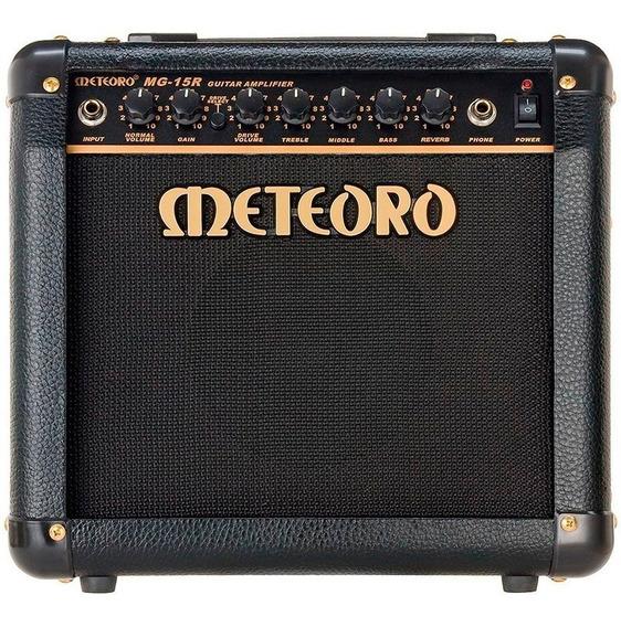 Cubo Amplificador Guitarra Meteoro Mg15r 15w C/ Overdrive