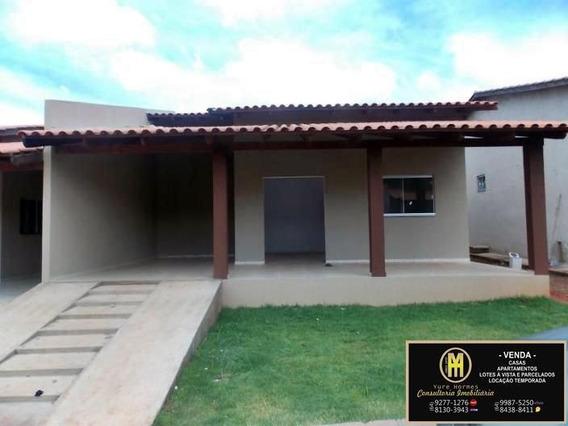 Casas Financiadas C/ Construtora Caldas Novas - Casa Em Condomínio A Venda No Bairro Mansões - Caldas Novas, Go - Yu16146