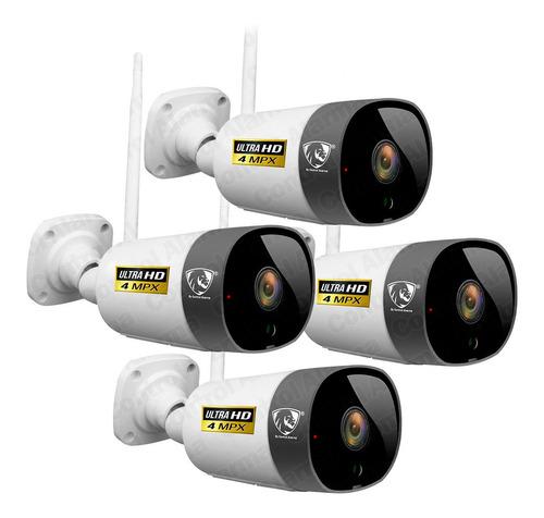Imagen 1 de 10 de 4 Camaras Wifi Ip Ultra Hd 4mpx Nube Exterior Seguridad