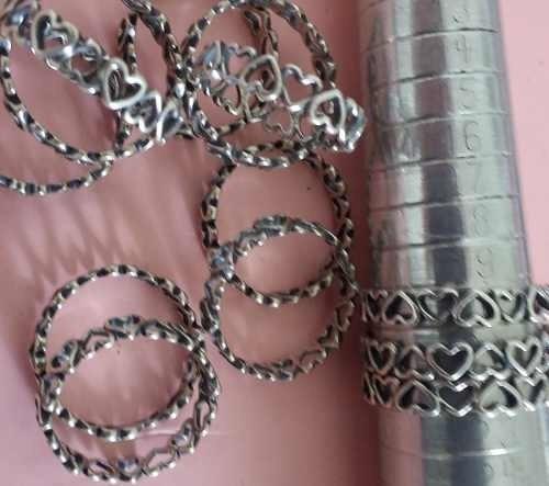 Anel Prata 925 Envelhecida Tipo Pandora Coração Promoção
