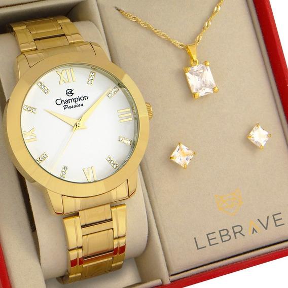 Relógio Champion Feminino Dourado Original 1 Ano De Garantia