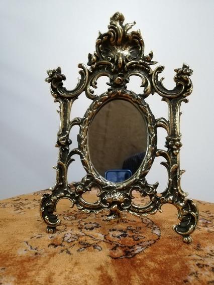 Espejo Antiguo Bronce Estilo Imperio