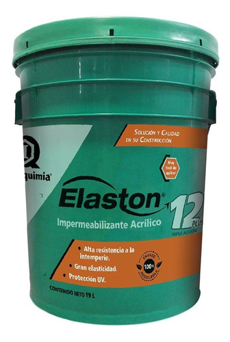 Imagen 1 de 7 de Impermeabilizante Acrílico 12 Años Elaston / Blanco / 19 L