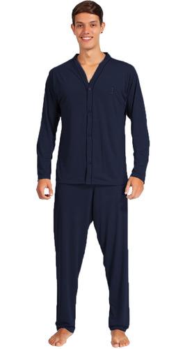 Imagem 1 de 2 de Pijama Frio Masculino Adulto Comprido Aberto Extra Grande