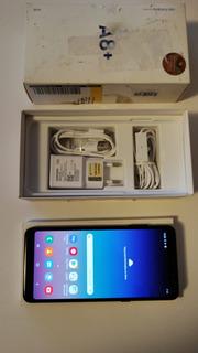 Smartphone Samsung A8+ Azul 64gb Câmeras 16mp+8mp Seminovo