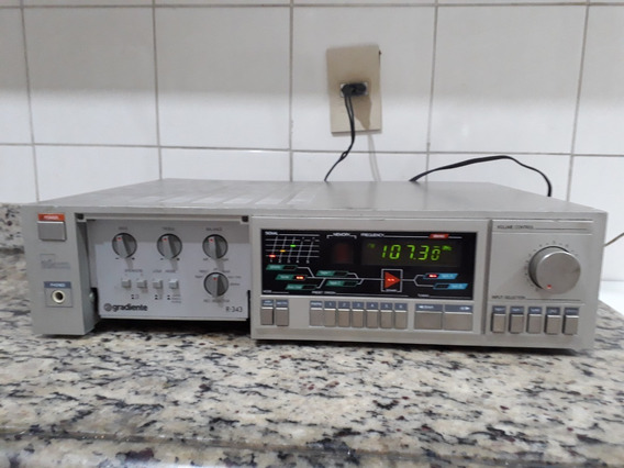 Receiver R-343 Gradiente Am/fm Quartz Tuner Amplifier Ok!