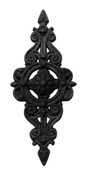 Florão Pequeno Ornamento Em Ferro Fundido Decoração 36x16cm