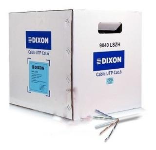 Cable Dixon 9040 Lszh 23awg Utp Cat 6