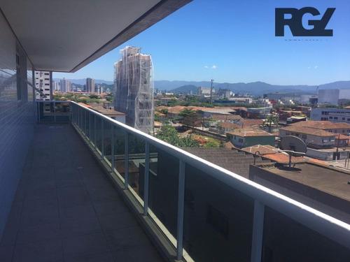 Sala Comercial Para Locação, Estuário, Santos. - Sa0155