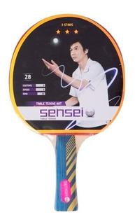 Paleta Ping Pong Sensei 3 Estrellas. Tenis De Mesa Pingpong