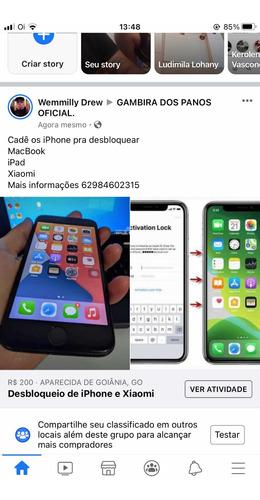 Imagem 1 de 5 de Faço Desbloqueio De iPhone, Macbook , iPad E Xiaomi