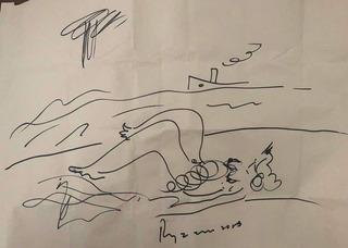 Dibujo Original Del Artista Carlos Regazzoni