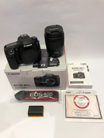 Câmera Canon 80d + Lente Ef-s 18-135mm F/3.5-5.6 Is Usm