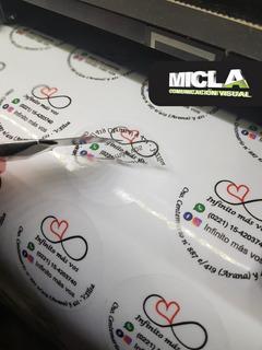 100 Calcos / Stickers 6 Cm Etiquetas En Vinilo Troqueladas