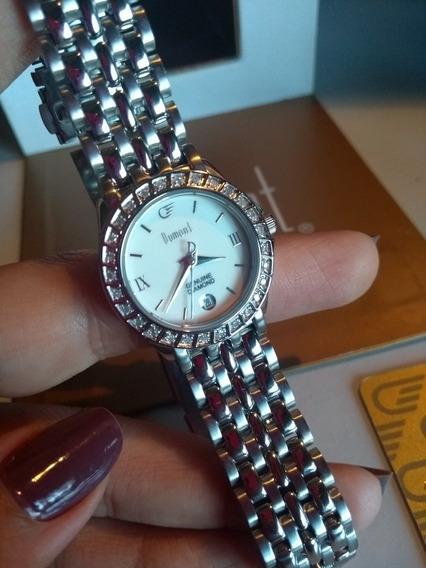 Relógio Dumont Genuine Diamond Feminino - Edição Limitada