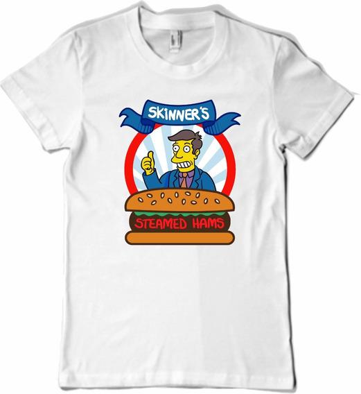 Remera Los Simpsons Hamburguesas Al Vapor
